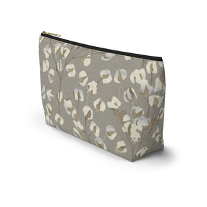 Cotton Branch Accessory Pouch w T-bottom in Brown