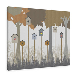 Backyard Fun Wrapped Canvas in Brown