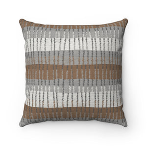 Bryce Canyon Square Throw Pillow in Brown