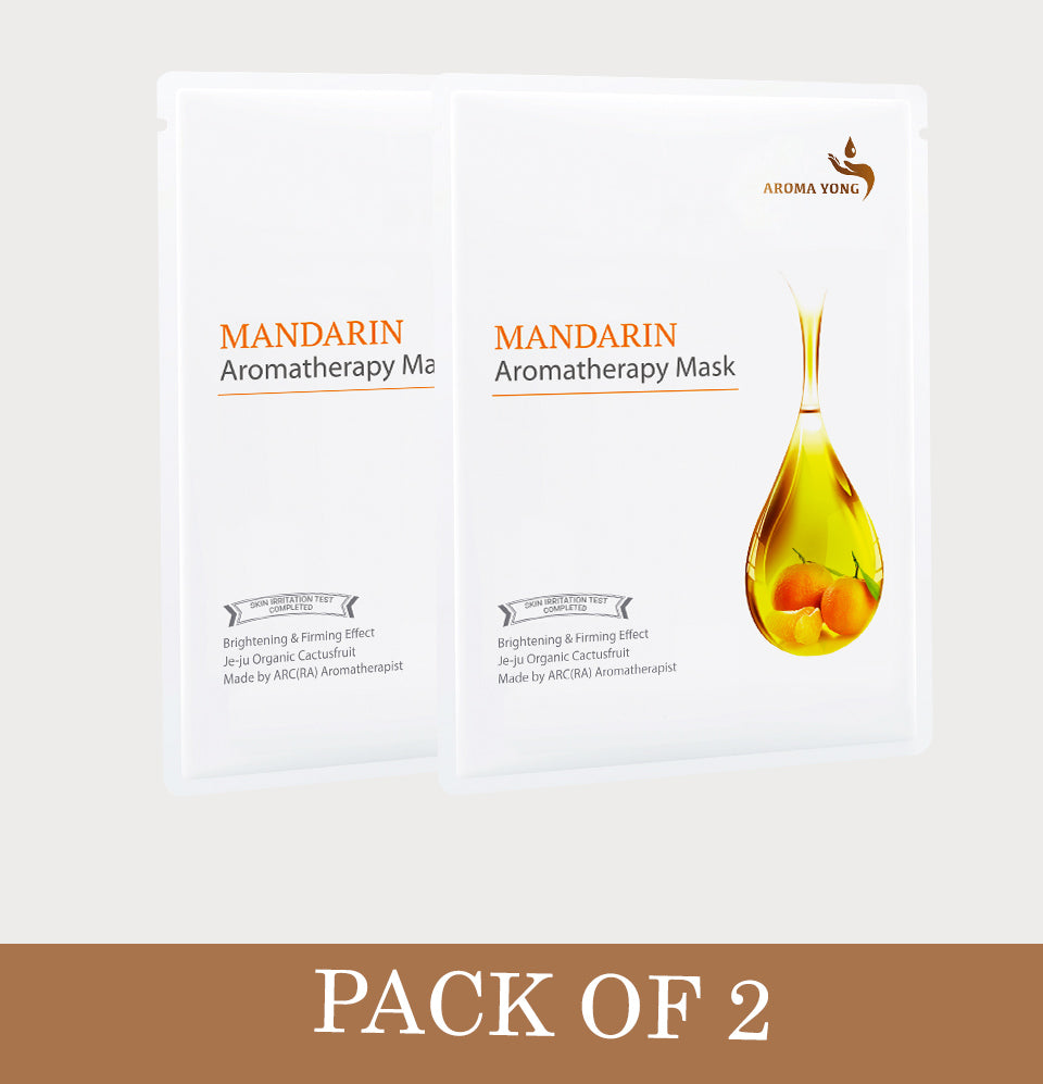 Mandarin Aromatherapy Mask- Pack of 2