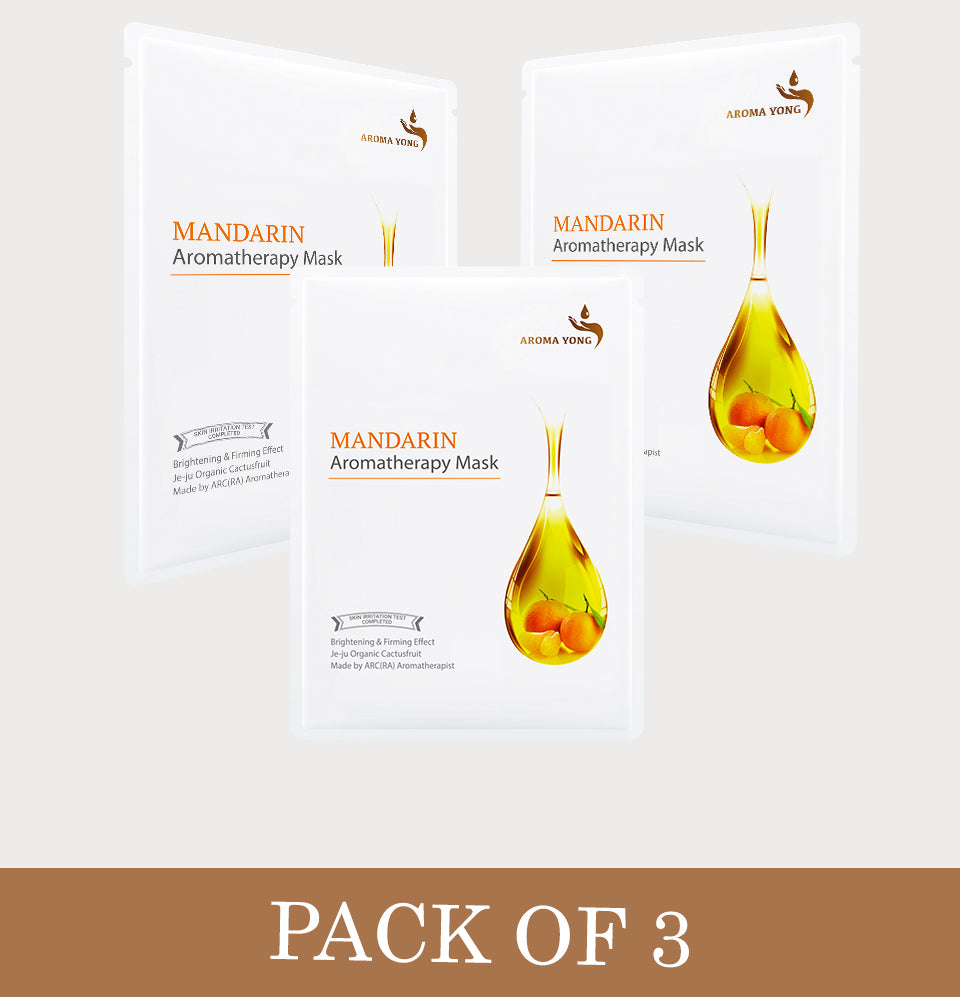 Mandarin Aromatherapy Mask - Pack of 3