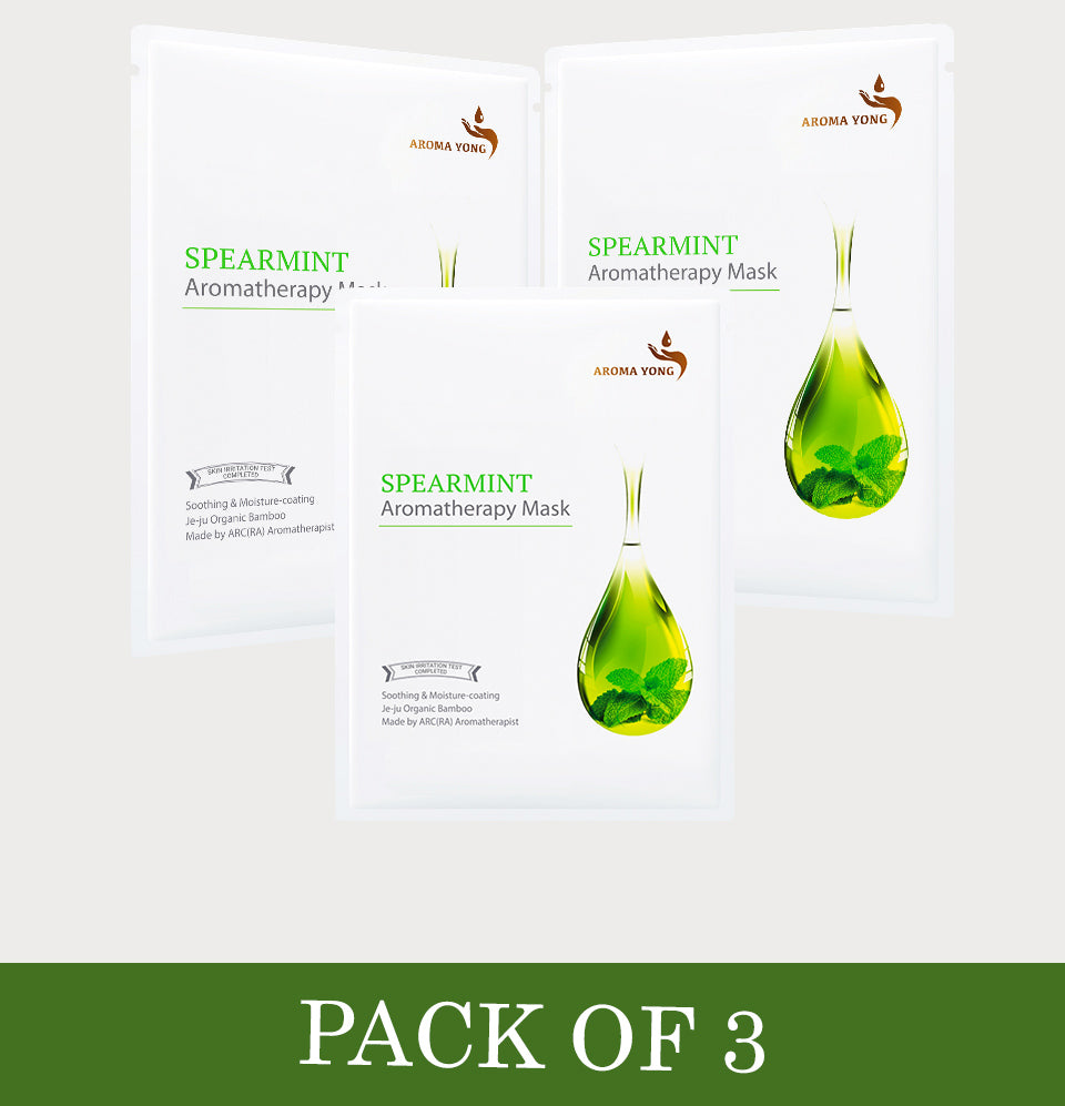 Spearmint Aromatherapy Mask - Pack of 3