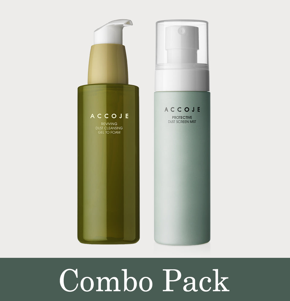 Reviving Dust Cleansing Gel to Foam (180ml) + Protective Dust Screen Mist (100ml)