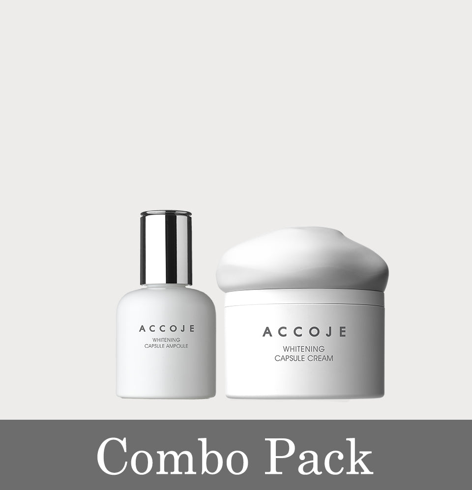 Whitening Capsule Ampoule (30ml) + Whitening Capsule Cream (50ml) (Combo Pack)