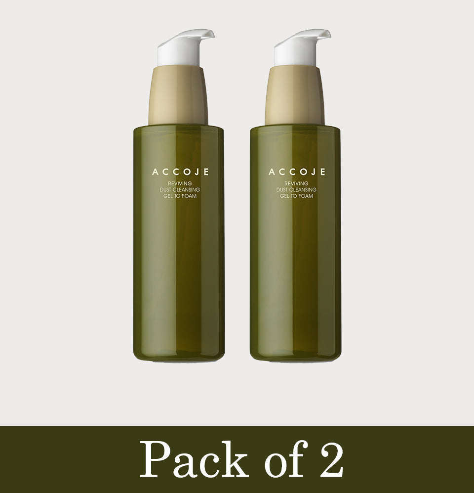 Reviving Dust Cleansing Gel to Foam Pack of 2