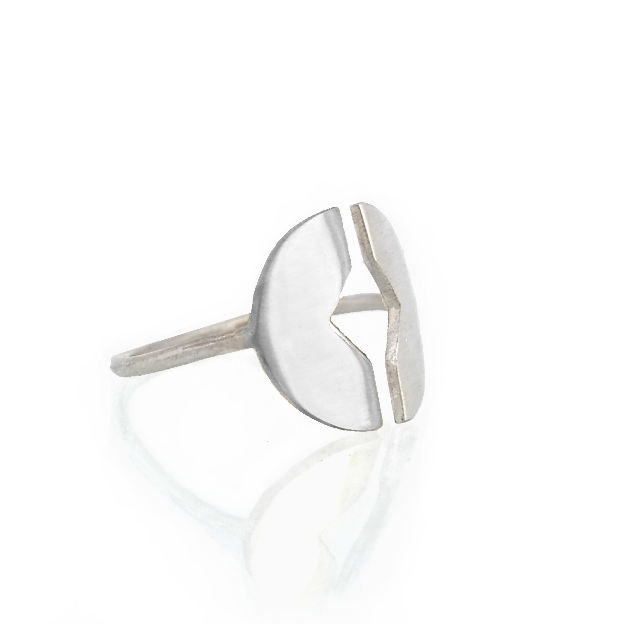 Silver fawo adjustable ring