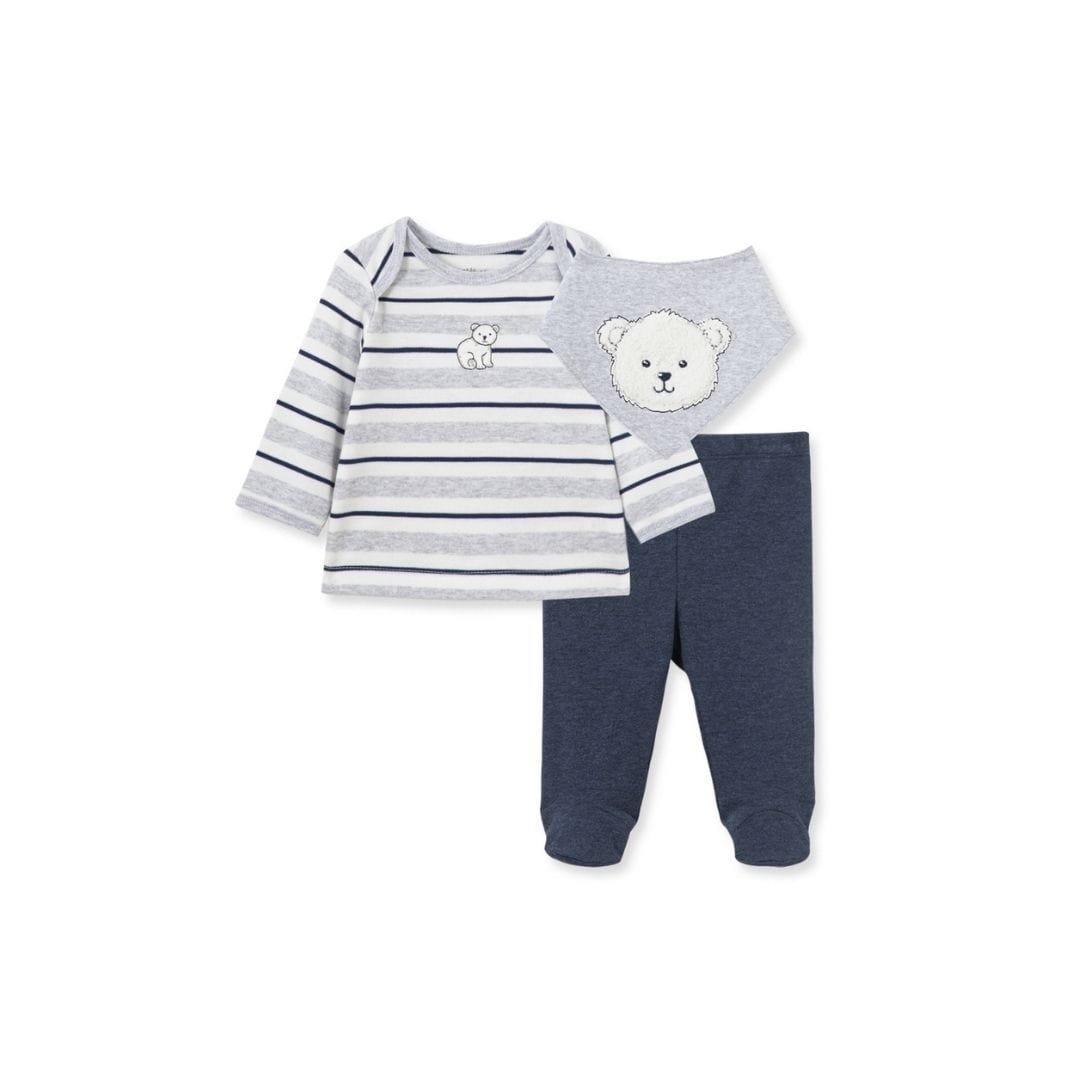 Little Me Set Bear Stripe Set