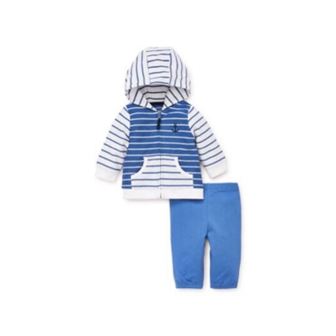 Little Me Set Stripe Mix Jacket Set