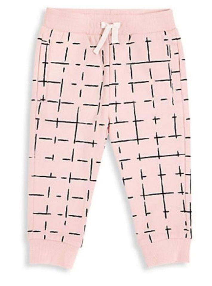 Miles Baby Bottoms Grid Print Joggers