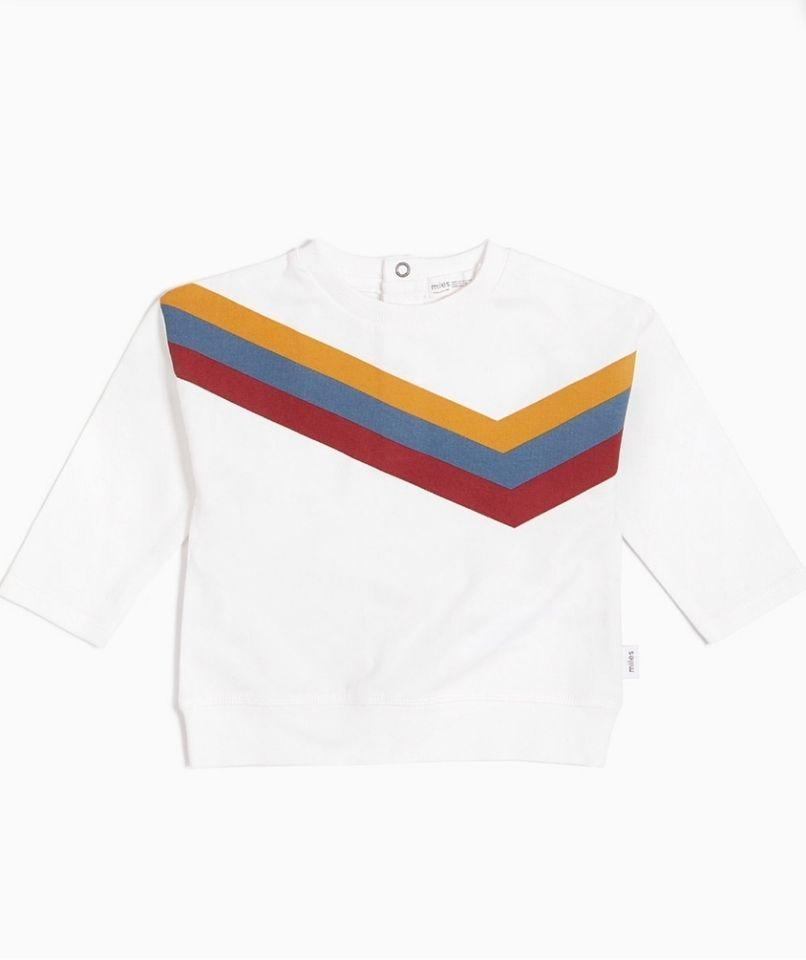Miles Baby Tops Striped Crew Neck Top