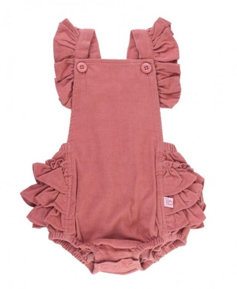Ruffle Butts Bottoms Corduroy Flutter Overall Romper
