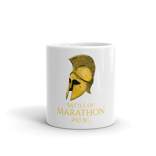Battle of Marathon Greek history coffee mug