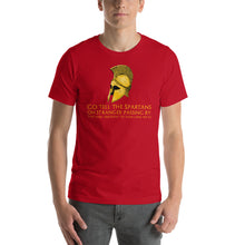Load image into Gallery viewer, Thermopylae - Epitaph of Simonides - Ancient Greek Unisex T-Shirt