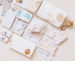 Baby hospital bag organiser set