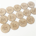 Load image into Gallery viewer, Wooden baby milestones plaque set