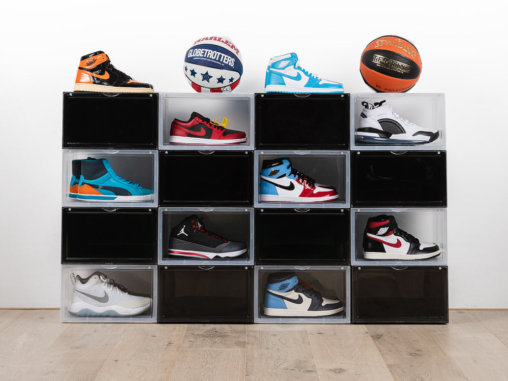 Stackable boxes to protect & store your sneakers