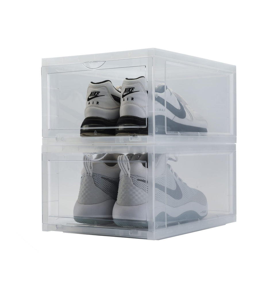 Drop Front Sneaker Display Boxes | Clear 2 Pack
