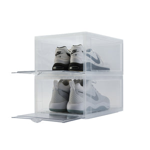 Load image into Gallery viewer, Drop Front Sneaker Display Boxes | Clear 2 Pack