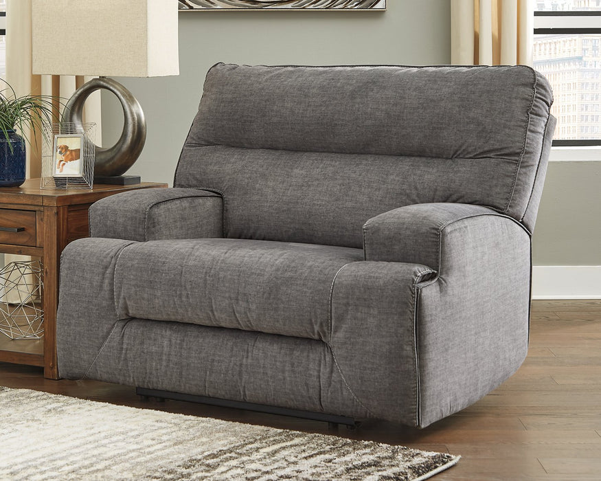 Coombs Signature Design by Ashley Charcoal Oversized Recliner