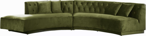 Kenzi Olive Velvet 2pc. Sectional image