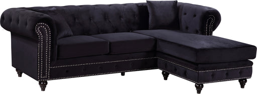 Sabrina Black Velvet 2pc. Reversible Sectional image