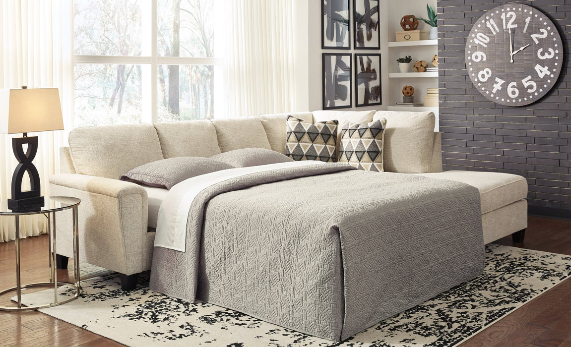 Abinger Millennium by Ashley 2-Piece Sleeper Sectional with Chaise