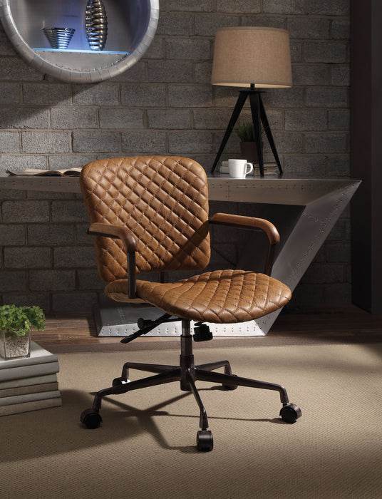 Josi Coffee Top Grain Leather Office Chair image