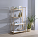 Ottey White High Gloss & Gold Bookshelf image