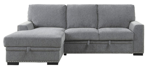 Homelegance Furniture Morelia 2pc Sectional with Pull Out Bed and Left Chaise in Dark Gray 9468DG*2LC2R image