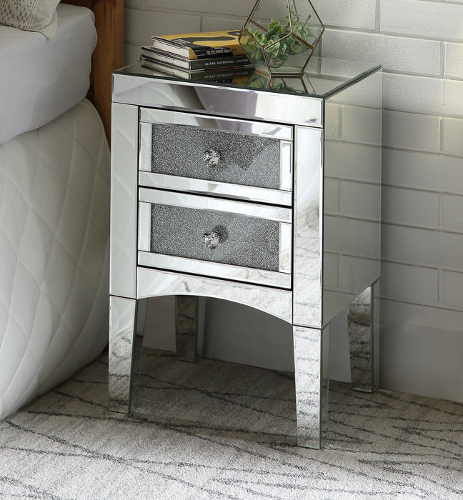 Nowles Mirrored & Faux Stones Accent Table image