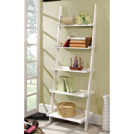 Sion White Ladder Shelf image