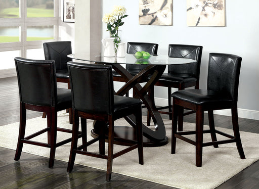 Atenna II Dark Walnut 7 Pc. Oval Counter Ht. Table Set image