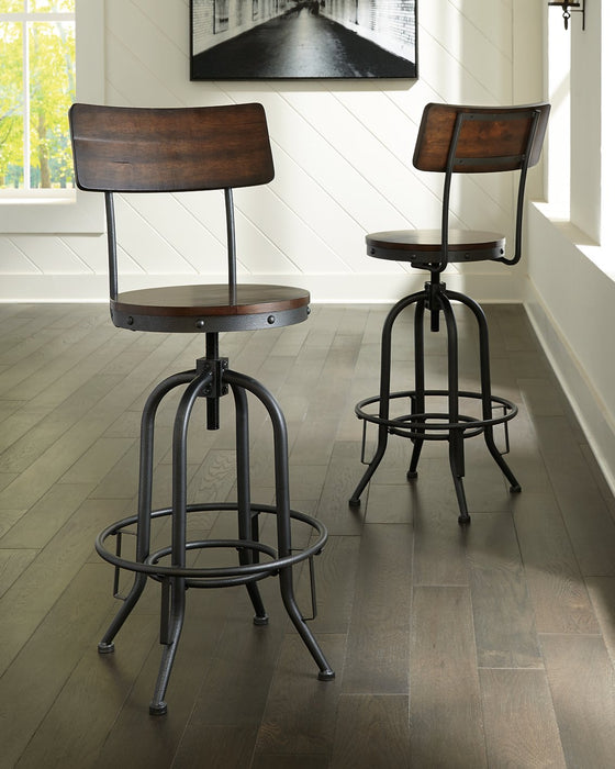 Odium Signature Design by Ashley Brown Pub Height Bar Stool