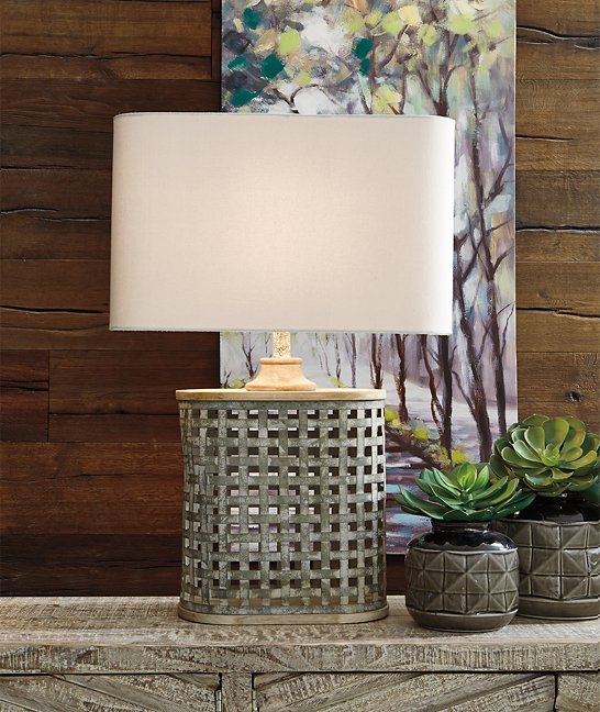 Deondra Signature Design by Ashley Gray Table Lamp