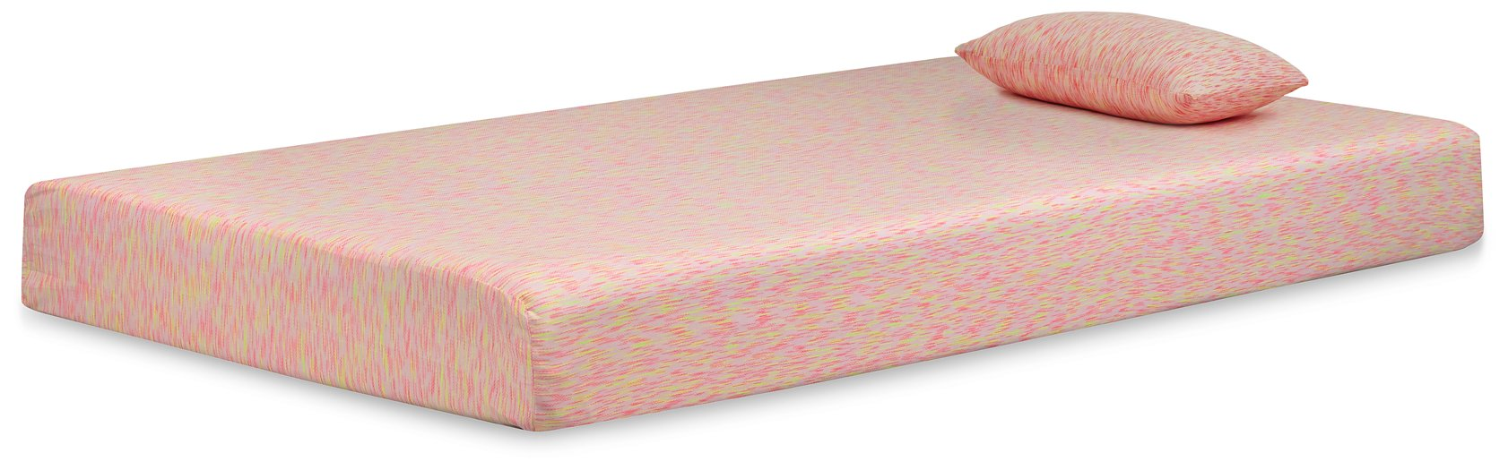iKidz Pink Sierra Sleep by Ashley Pink Twin Mattress and Pillow