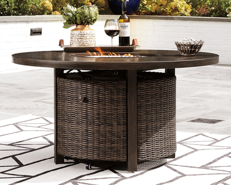 Paradise Trail Signature Design by Ashley Medium Brown Fire Pit Table