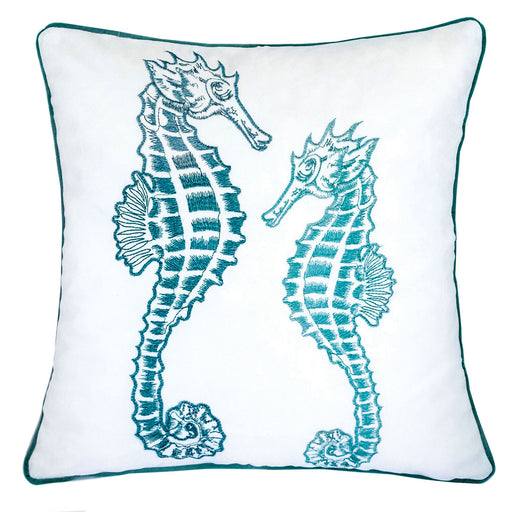 "Terrie Teal 20"" X 20"" Pillow, Teal image"