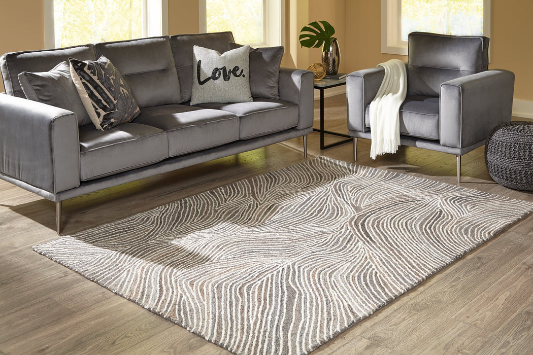 Wysleigh Signature Design by Ashley IvoryBrownGray Large Rug