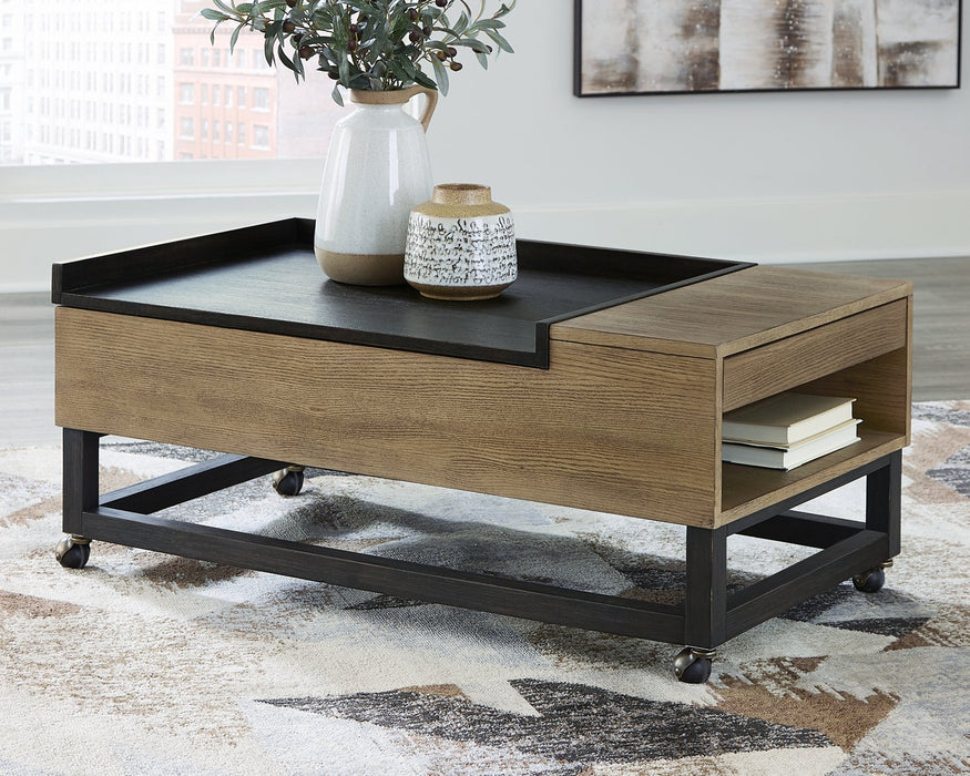 Fridley Signature Design by Ashley Two-tone Lift-Top Coffee Table