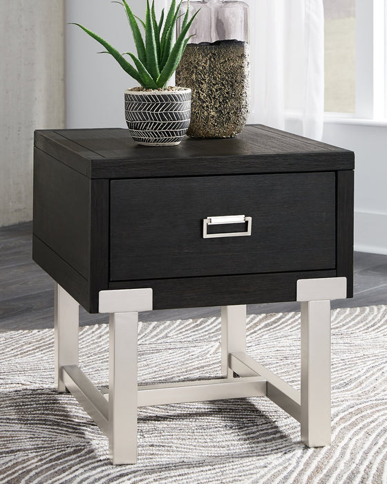 Chisago Signature Design by Ashley Black End Table