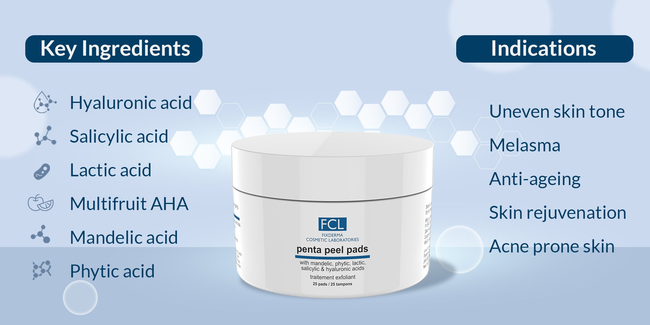 FCL Penta Peel Pads Benefits and Indications