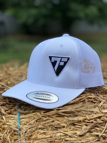 7F Triangle Shield - White - 7Five Clothing Co.