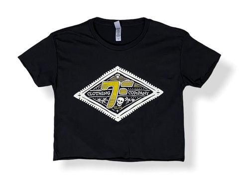 7Five Groove Crop - Black - 7Five Clothing Co.