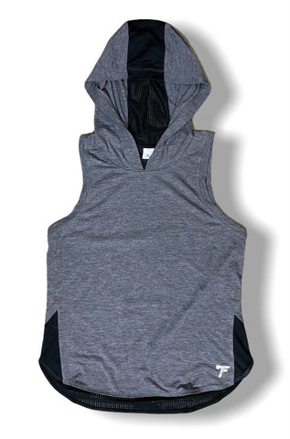 Ladies 7Five Sleeveless Hoodie - Gray / Black - 7Five Clothing Co.