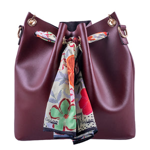 SAC A MAIN LUIGIA EN CUIR BORDEAU