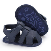 Baby Summer Sandals For 0-18 Months Boy Girl Slippers Toddler Kids Nursery School First Walkers PU Leather Shoes - UK Merchants