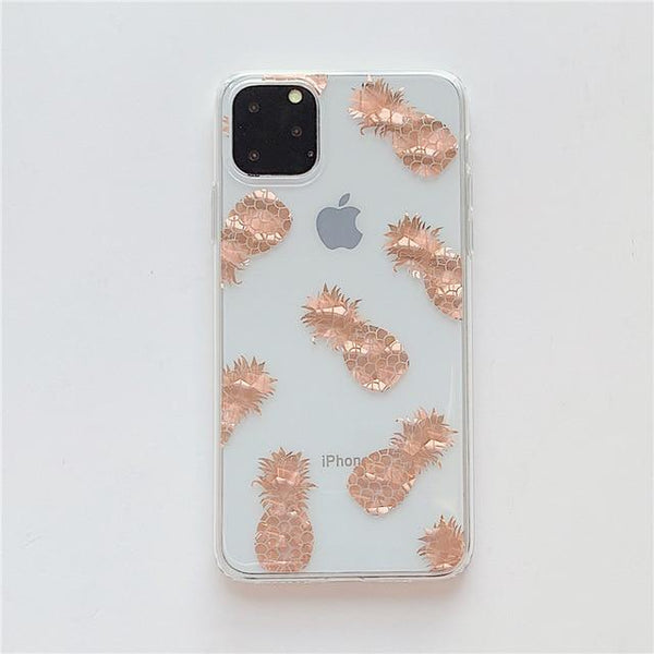Luxury Glitter Gold Transparent Case For iPhone - UK Merchants
