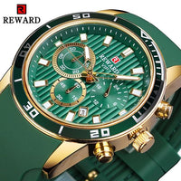 Green Dial Calendar Display Men Military Watch - UK Merchants
