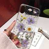 Silver foil Clear Phone Cases For iPhone - UK Merchants