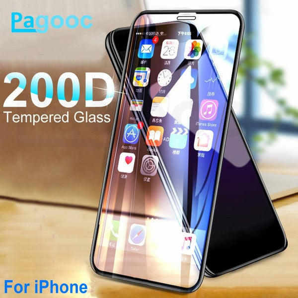 Curved Protective Tempered Glass For iPhone - UK Merchants
